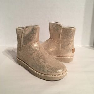 UGG Shoes - Ugg Women's Abree Mini Stardusk Gold Suede Boots